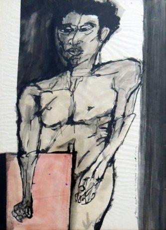 """Foto """"Auto retrato de Aldemir Martins"""""""