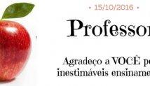 Feliz dia do Professor!!!